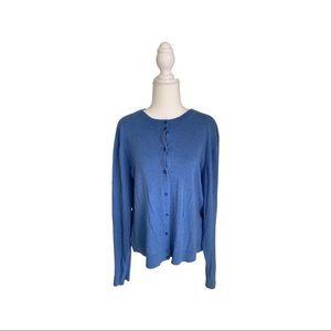 J.Crew soft cotton cornflower blue cardigan XXL